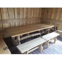 Nr.3 Mediniai stalai, suolai, Lauko baldai