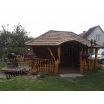 Nr.5 Šešekampė su terasa , skiedriniu stogu