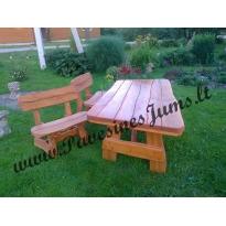 Nr.2 Mediniai stalai, suolai, Lauko baldai
