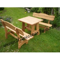 Mediniai stalai, suolai, Lauko baldai: B